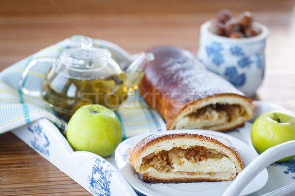 sweet strudel with apples Stock photo © Peredniankina