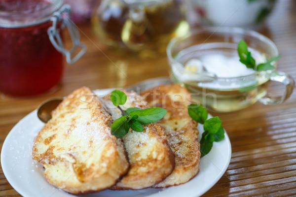 édes pirítós cukor menta reggeli étel Stock fotó © Peredniankina