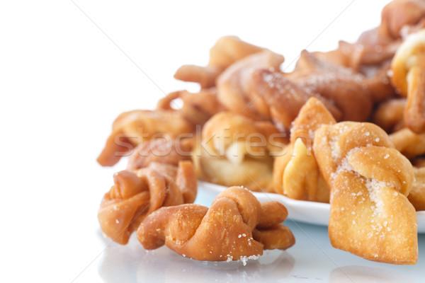 édes sütemény mély sült porcukor háttér Stock fotó © Peredniankina
