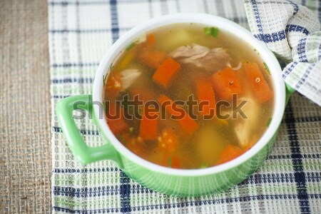 chicken broth cooked with vegetables  Stock photo © Peredniankina