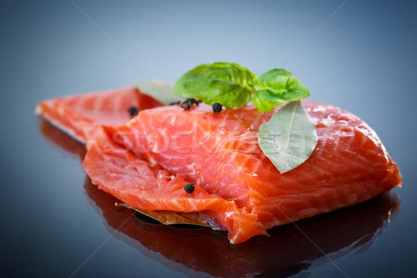 Gezouten zalm Rood vis donkere Stockfoto © Peredniankina