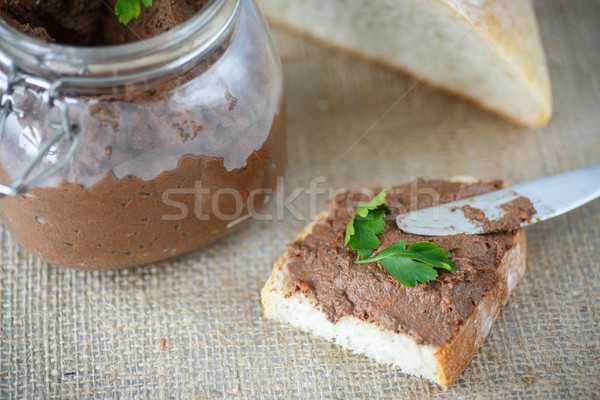 homemade liver pate with bread Stock photo © Peredniankina