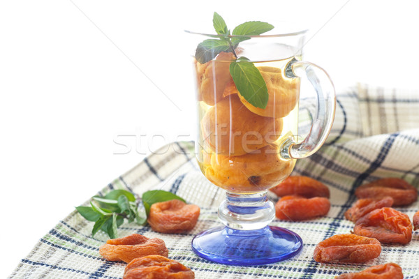 compote with dried apricots Stock photo © Peredniankina