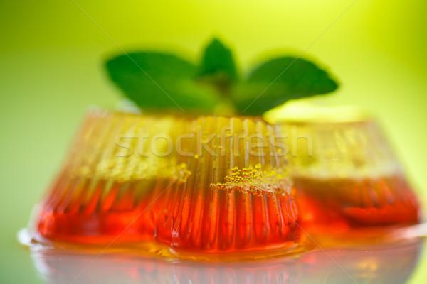 Kleurrijk vruchten gelei snoep groene achtergrond Stockfoto © Peredniankina