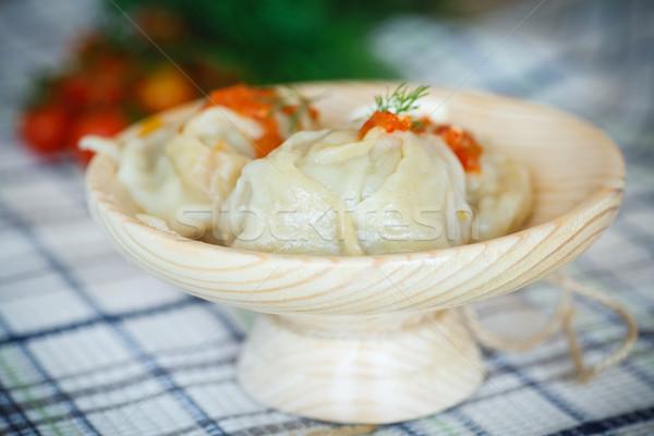 большой блюдце томатном соусе продовольствие Сток-фото © Peredniankina