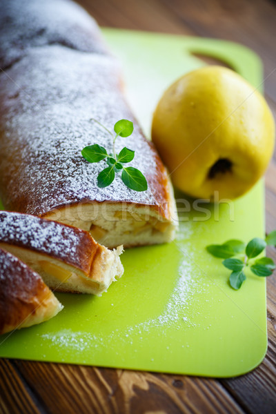 sweet strudel stuffed with quince  Stock photo © Peredniankina