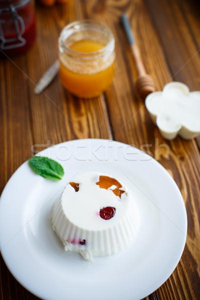 желе фрукты заполнение пластина вечеринка сыра Сток-фото © Peredniankina