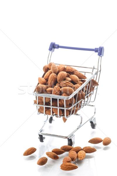 ply truck with peeled almonds Stock photo © Peredniankina