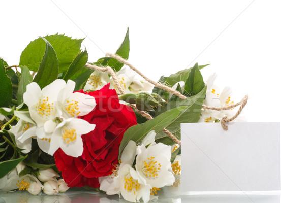 bouquet of roses and jasmine Stock photo © Peredniankina