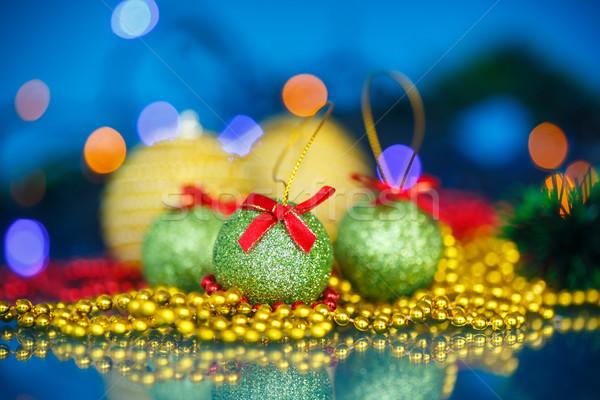 Kerstboom ornamenten gelukkig ontwerp Stockfoto © Peredniankina