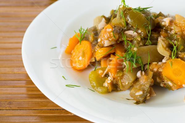 eggplant stewed with vegetables Stock photo © Peredniankina