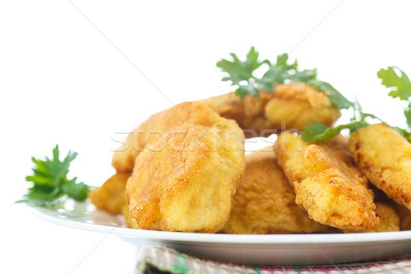 Pollo frito alimentos mama cena blanco Foto stock © Peredniankina
