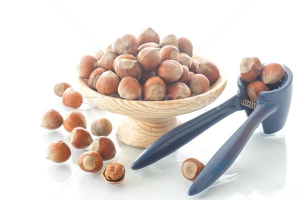 hazelnut in the wooden plate  Stock photo © Peredniankina