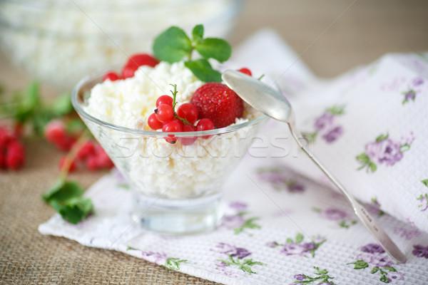 sweet curd with berries Stock photo © Peredniankina