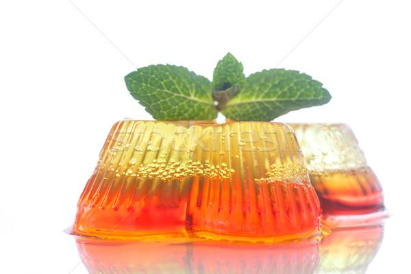 Színes gyümölcs zselé édesség fehér tányér Stock fotó © Peredniankina