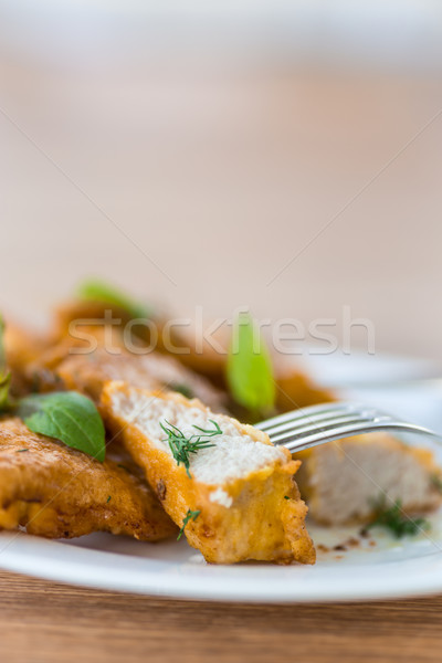 chicken fried in batter Stock photo © Peredniankina