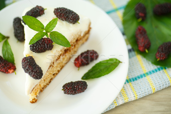 cake with mulberry Stock photo © Peredniankina