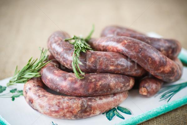 home hepatic raw sausage with rosemary Stock photo © Peredniankina