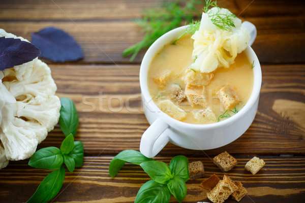soup pureed cauliflower Stock photo © Peredniankina