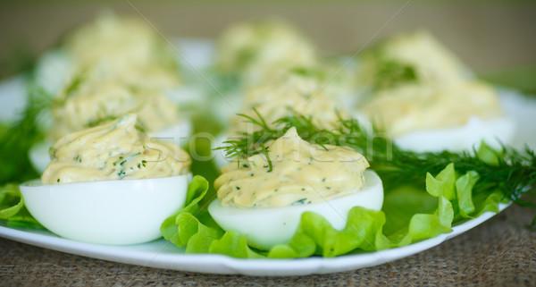 Ovos recheado prato páscoa Foto stock © Peredniankina