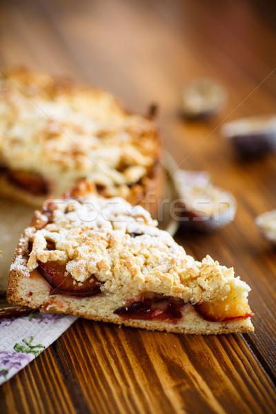 Pite gyümölcs asztal étel vacsora kövér Stock fotó © Peredniankina