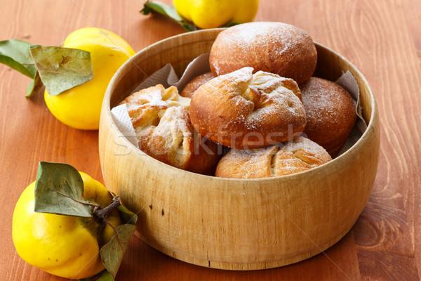айва заполнение сахарная пудра продовольствие фрукты Сток-фото © Peredniankina