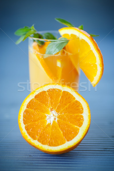 Stock photo: fresh and fruity brew with oranges