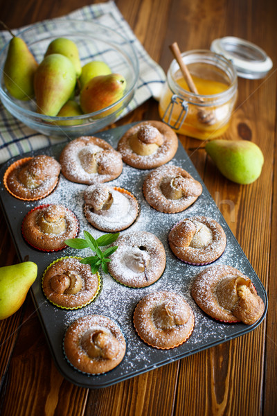sweet muffins with pears Stock photo © Peredniankina