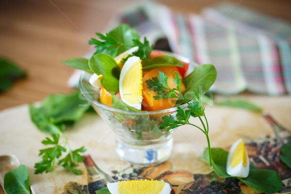 sorrel salad and tomatoes with egg Stock photo © Peredniankina