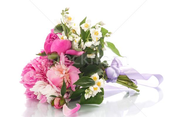 beautiful bouquet of peonies Stock photo © Peredniankina