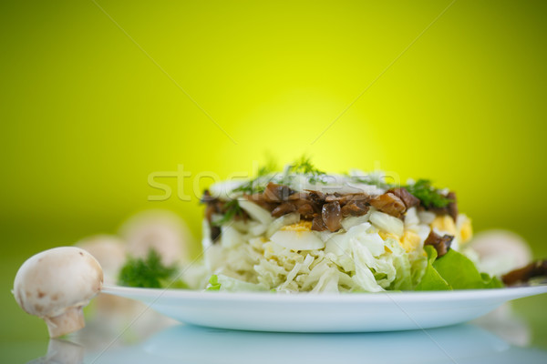 salad with cabbage and mushrooms Stock photo © Peredniankina