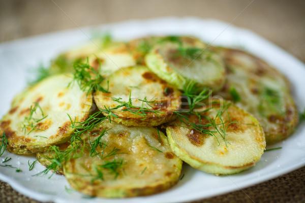 Zucchini Küche Sommer Tabelle weiß Stock foto © Peredniankina