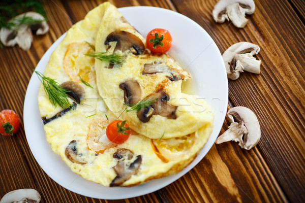 Stock photo: Omelet with mushrooms