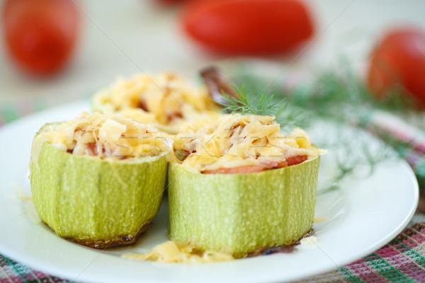 stuffed zucchini Stock photo © Peredniankina