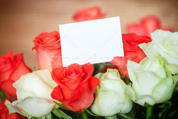 Virágcsokor virágzó rózsák sötét barna rózsa Stock fotó © Peredniankina