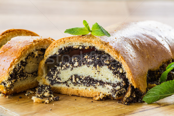 roll with poppy seeds Stock photo © Peredniankina