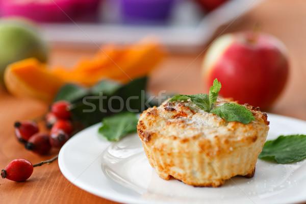 cheese muffins with pumpkin Stock photo © Peredniankina