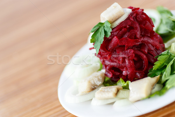 salad with boiled beet and herring  Stock photo © Peredniankina