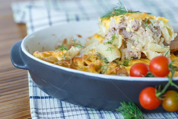 casserole with pasta and meat Stock photo © Peredniankina