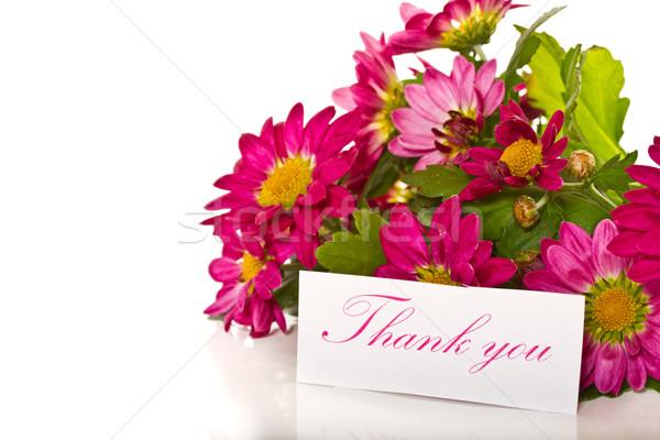 thanks with flowers Stock photo © Peredniankina