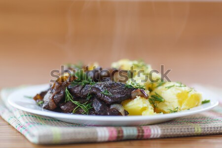 liver fried with boiled potatoes Stock photo © Peredniankina