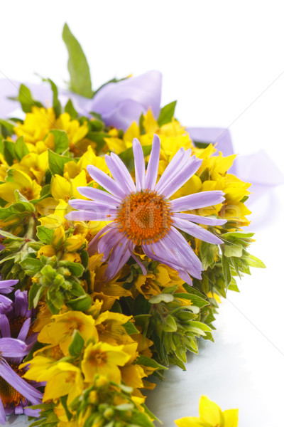 Summer bouquet of daisies and loosestrife Stock photo © Peredniankina
