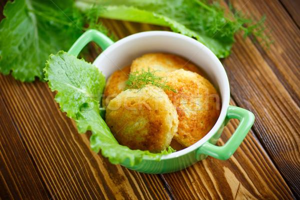 fried potato pancakes with dill  Stock photo © Peredniankina