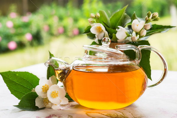 Stock photo: fragrant jasmine tea