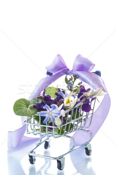 Belo buquê flores da primavera branco flor primavera Foto stock © Peredniankina