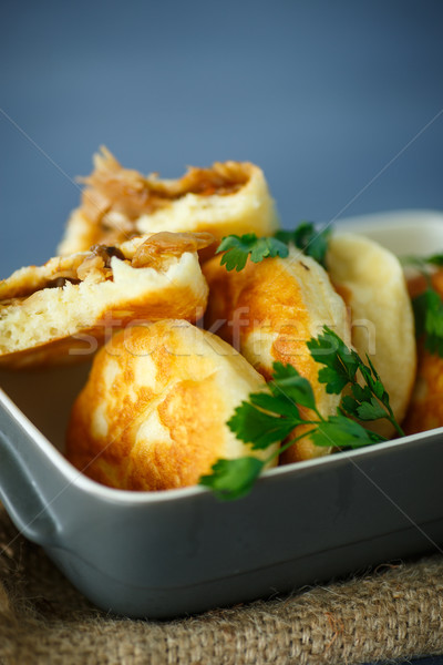 pies fried with cabbage Stock photo © Peredniankina