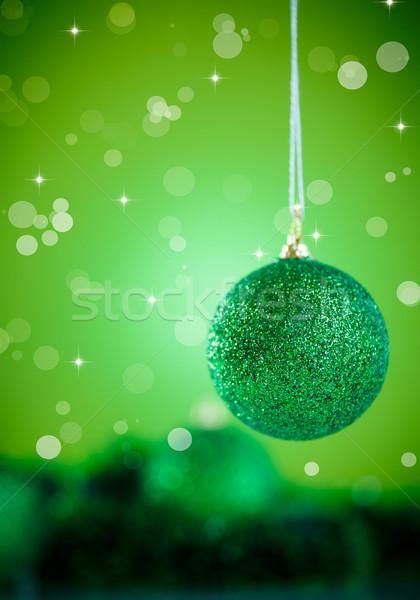 Feliz año nuevo Navidad pelota decoración resumen feliz Foto stock © Peredniankina
