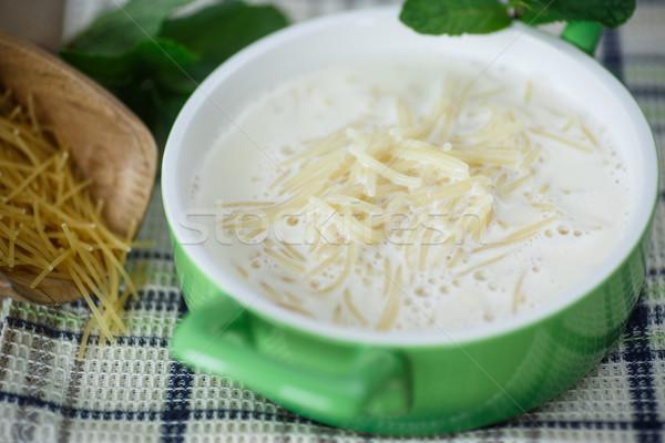 Dulce cocido leche tazón fondo restaurante Foto stock © Peredniankina