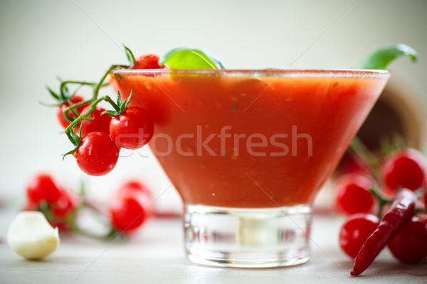 Sos pomidorowy naturalnych domowej roboty sos pomidory papryka Zdjęcia stock © Peredniankina