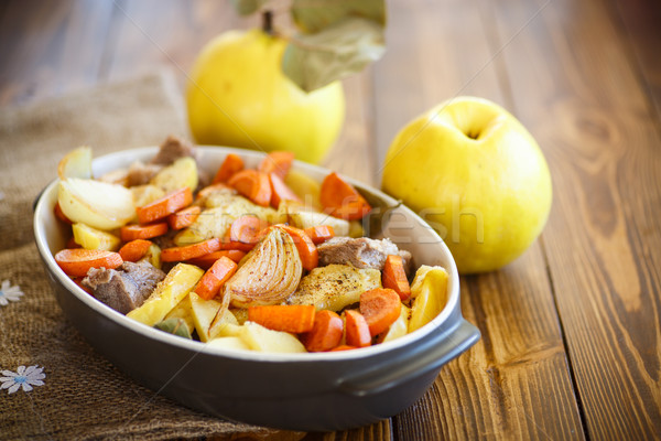 Carne membrillo hortalizas alimentos frutas Foto stock © Peredniankina